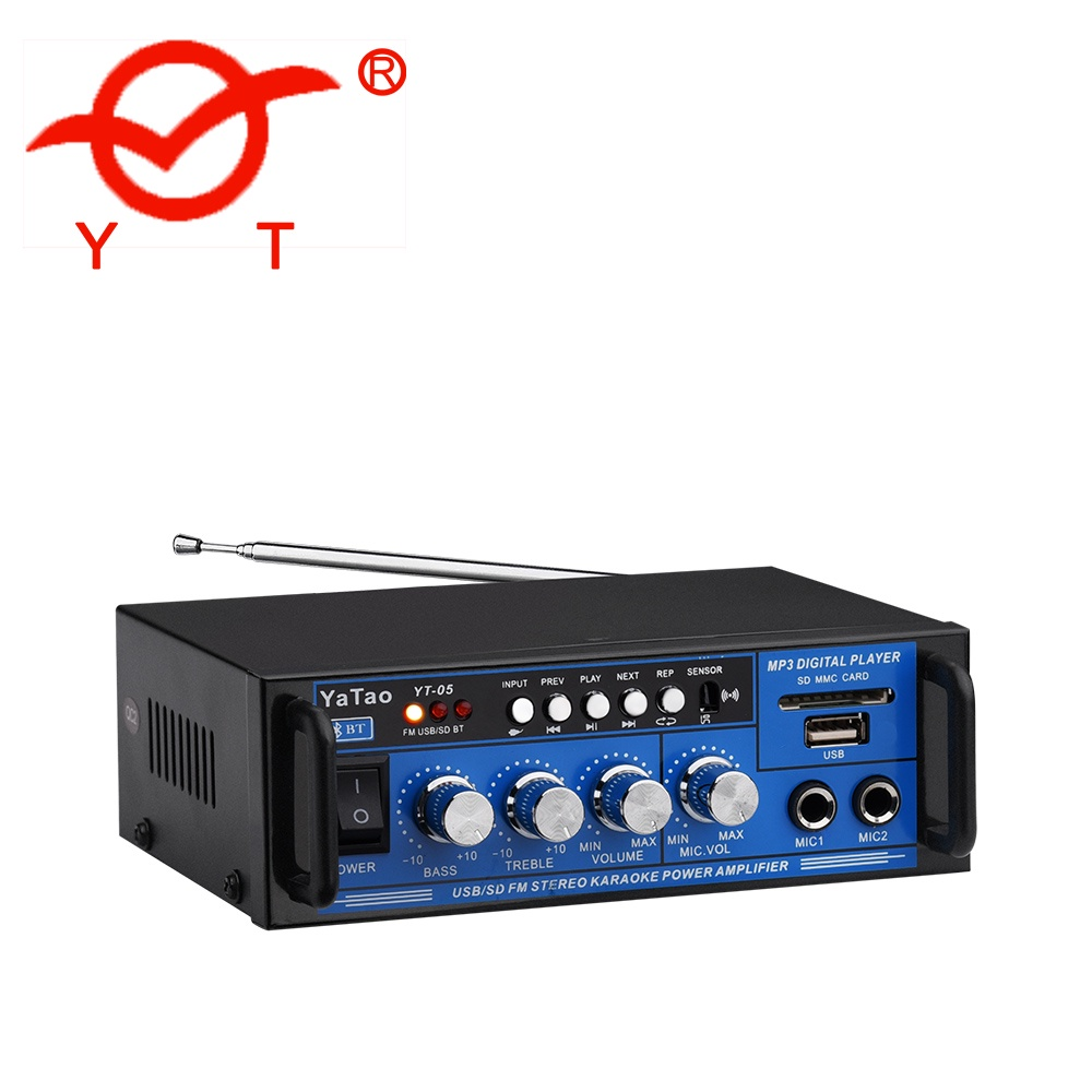 Hi-FiУсилитель Yatao YT-05 Ввод на 12В делает возможным установку усилителя в транспортных...