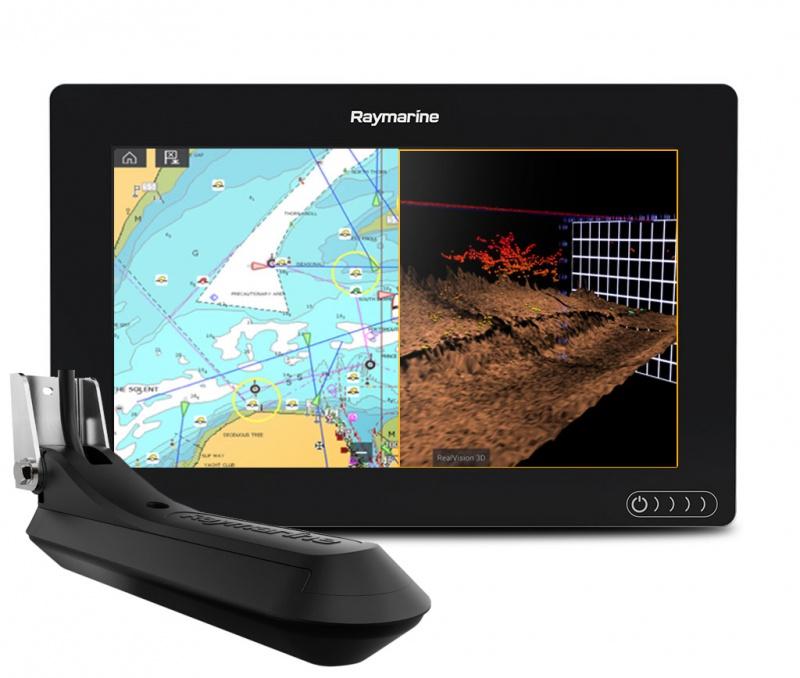 Эхолот Raymarine AXIOM 9 RV, Multi-function Display with integrated RealVision 3D, 600W Sonar RV-100 transducer