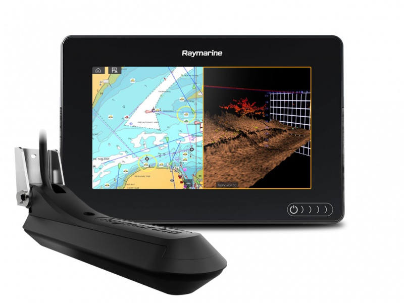 Многофункциональная система навигации Raymarine AXIOM 7 RV, Multi-function 7 Display with RealVision 3D, 600W Sonar with RV-100 transducer