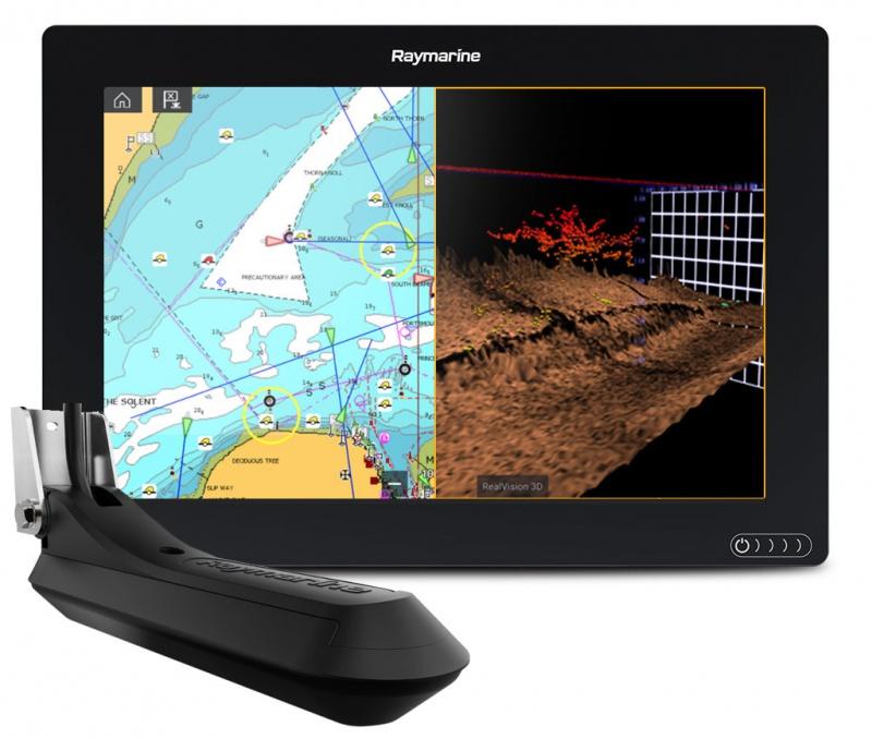 Многофункциональная система навигации Raymarine AXIOM 12 RV, Multi-function 12 Display with integrated RealVision 3D, 600W Sonar with RV-100 transducer