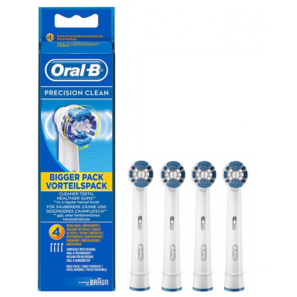 Насадка для зубных щеток Oral-B Precision Clean (4 шт) EB 20-4 сменные насадки для зубной щетки oral b precision clean 2 шт