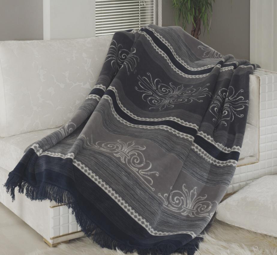 Плед CottonТуман, Paters, Д-15-3, темно-серый,150х200 см плед paters ландыши 140х205 см