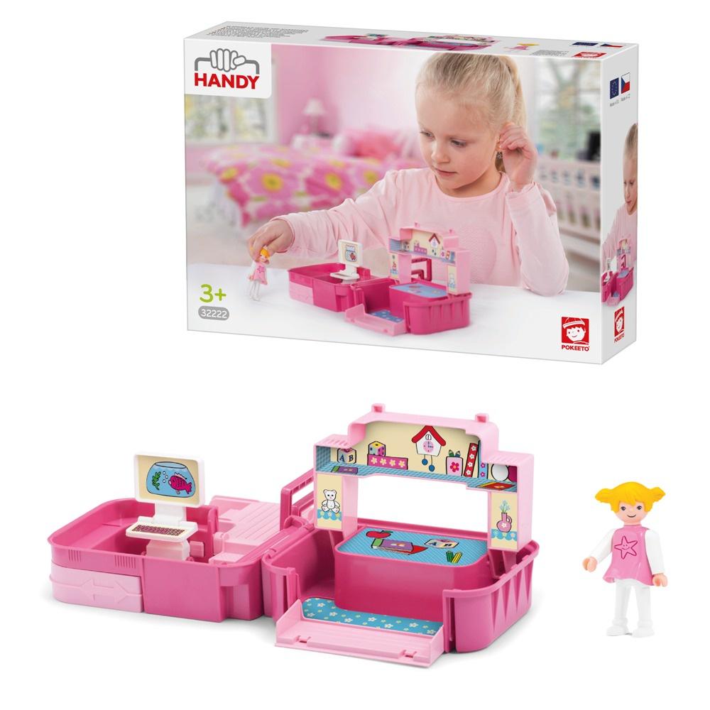 Раскладывающийся игровой набор детская комната с аксессуарами и девочкой