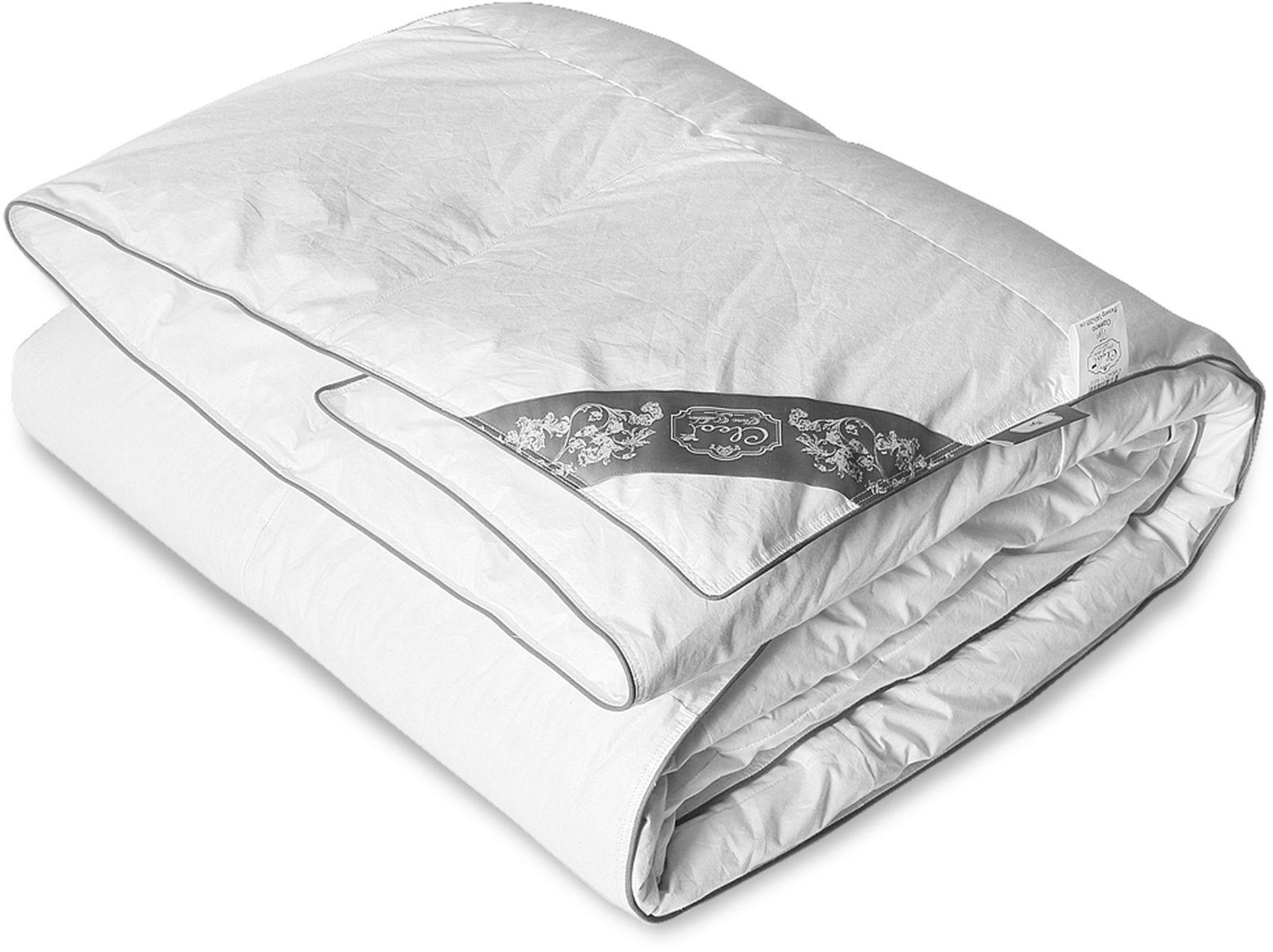 Одеяло Cleo Пух Comfort, наполнитель: пух, белый, 172 х 205 см