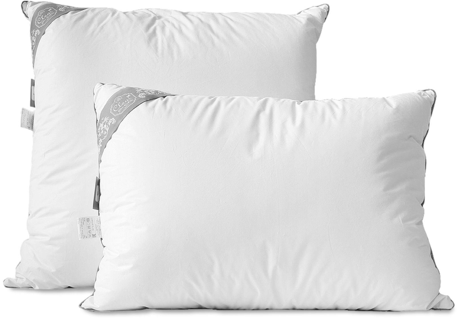 Подушка Cleo Пух Comfort, наполнитель: пух, белый, 70 х см