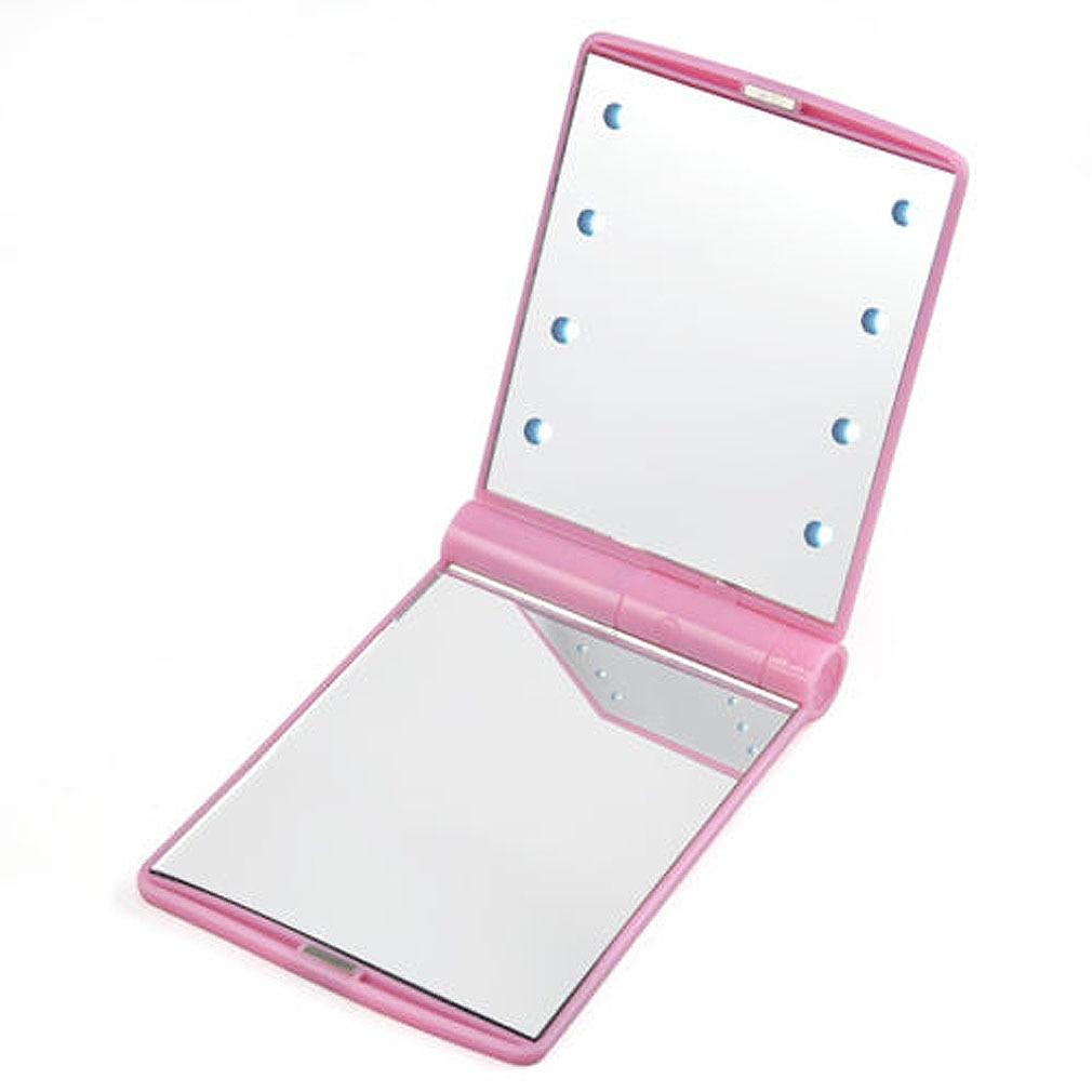 Косметическое карманное зеркало с подсветкой из светодиодов
