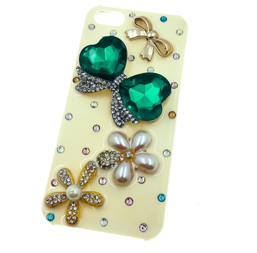 iPhone 5/SE Накладка пластиковая с декоративными стразами в виде банта Мобильная мода exclaim брошь в виде банта