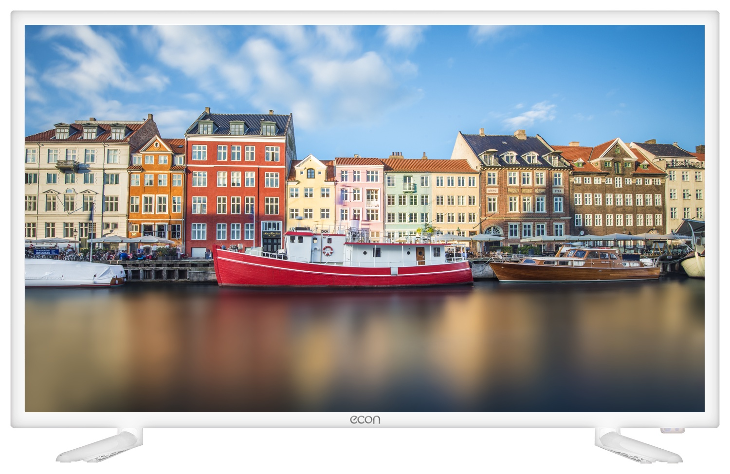 "Телевизор ECON LED SMART TV, 32"" (81см), с встроенным цифровым тюнером и модулем WI-FI 32"", белый"