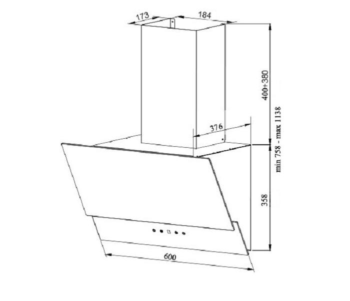 Вытяжка кухонная GRAND Gloucester (60, нержавеющая сталь/черный) Пульт дистанционного управления позволяет управлять вытяжкой...
