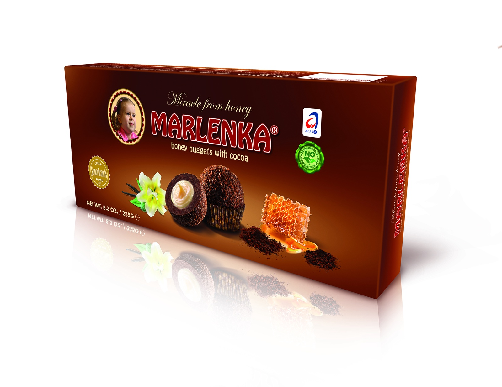 Шарики медовые MARLENKA с какао торт marlenka медовый с какао 100 г