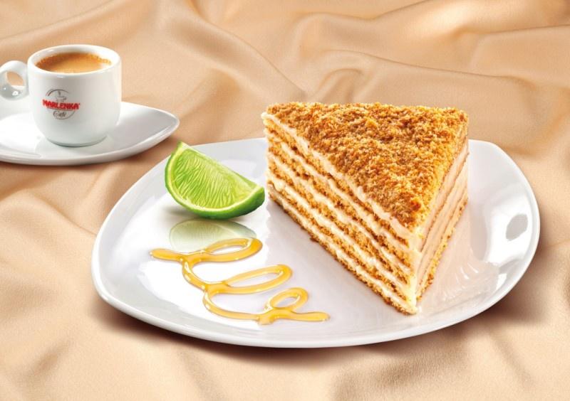 Торт медовый MARLENKA лимонно - медовый Marlenka