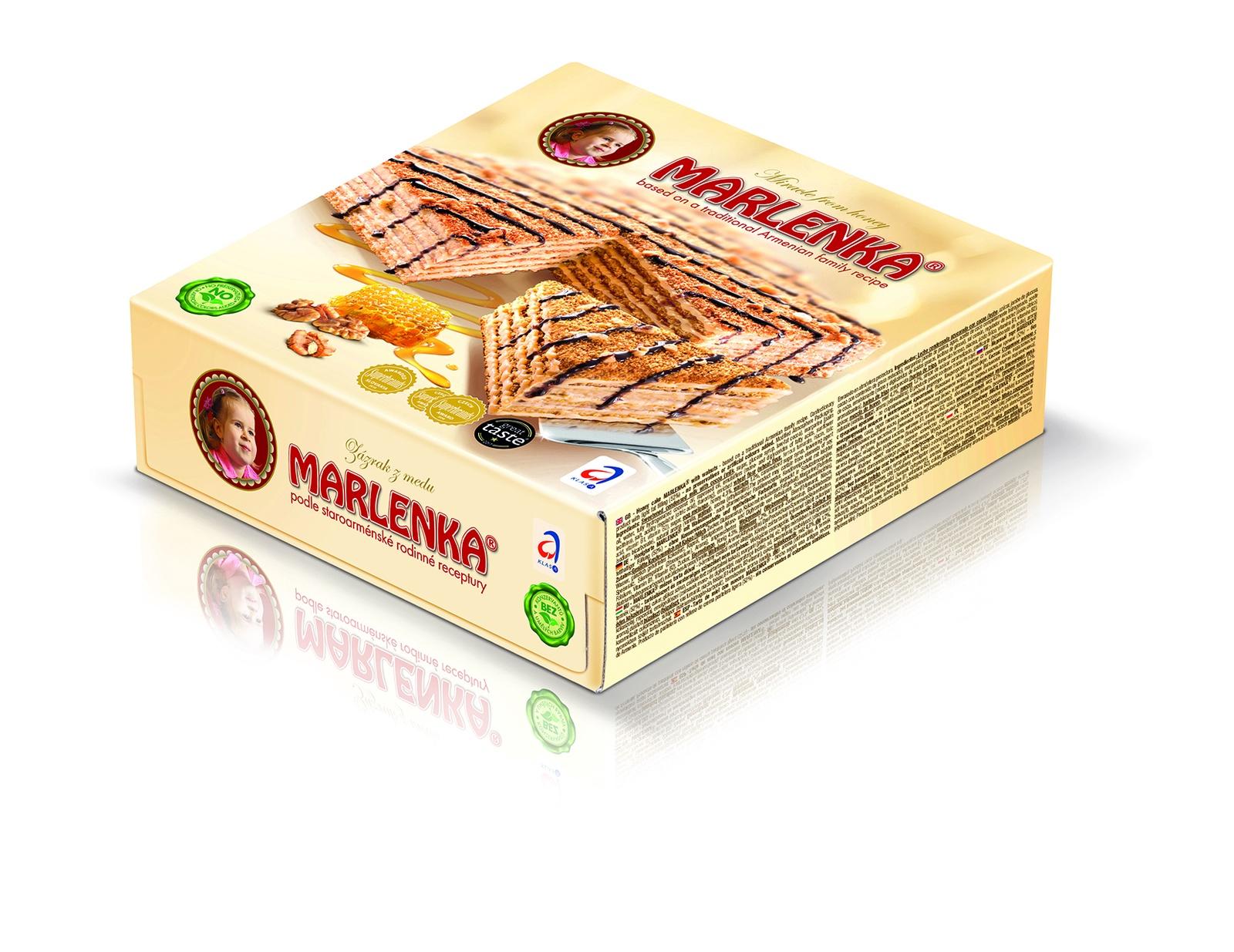 Торт медовый MARLENKA с грецкими орехами торт marlenka медовый с какао 100 г