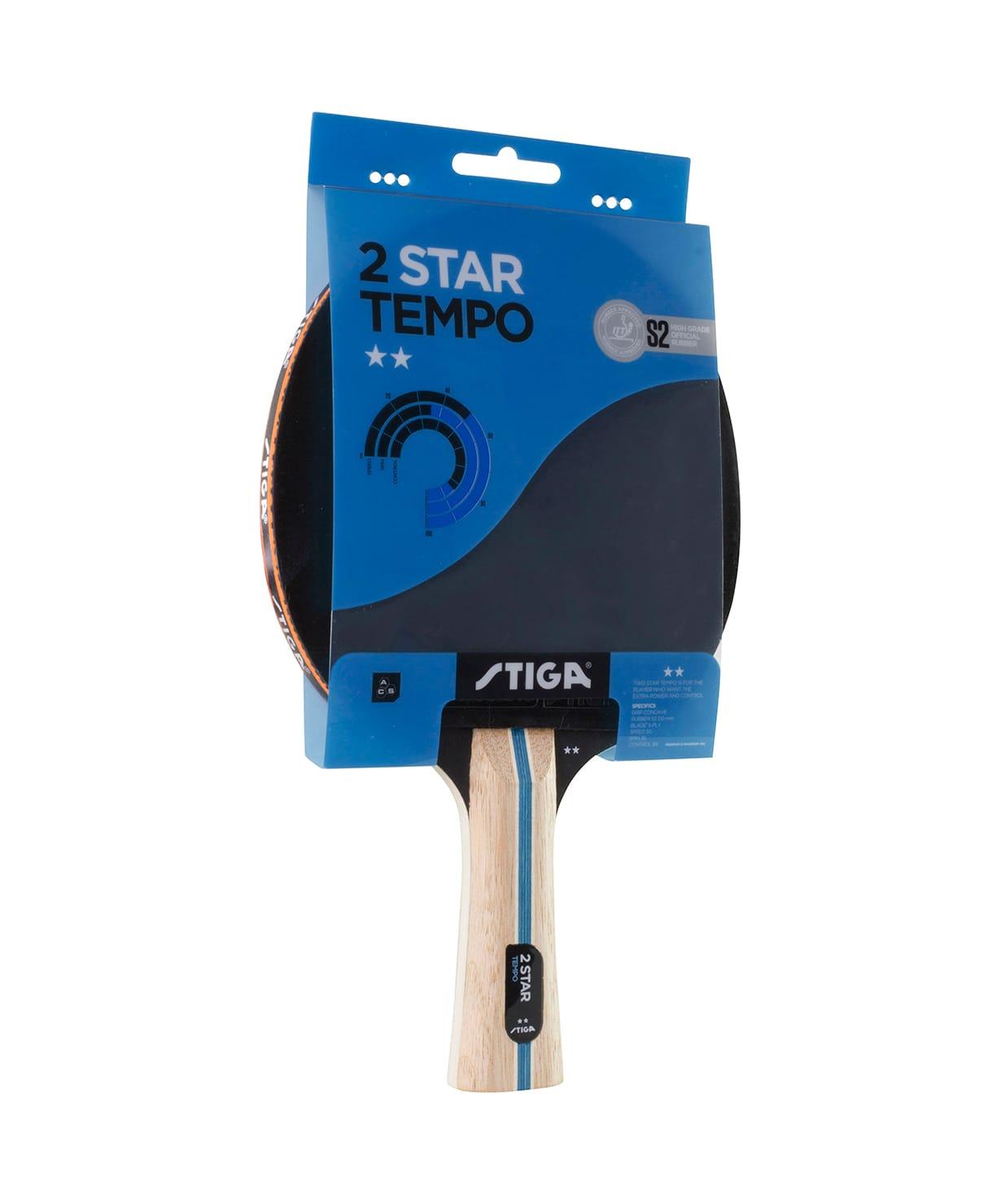 Ракетка для настольного тенниса Stiga 2 Stars Tempo ракетка для настольного тенниса stiga technic 2 звезды 1212 3516 01
