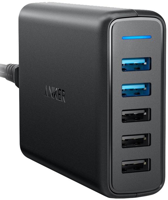 Сетевое зарядное устройство Anker 63W 2хQC 3.0 И IQ черное A2054L11 цена и фото