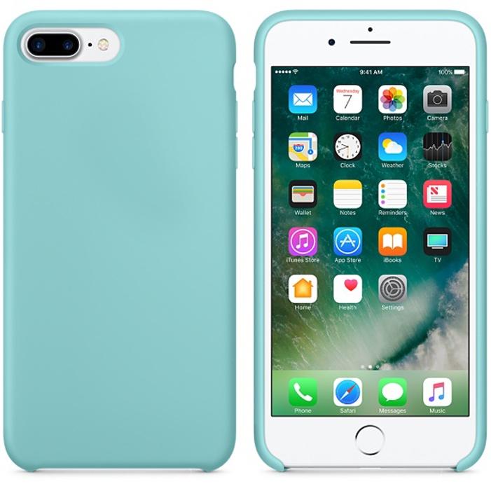 Чехол силиконовый Silicone Case для iPhone 7 Plus / 8 Plus, бирюзовый