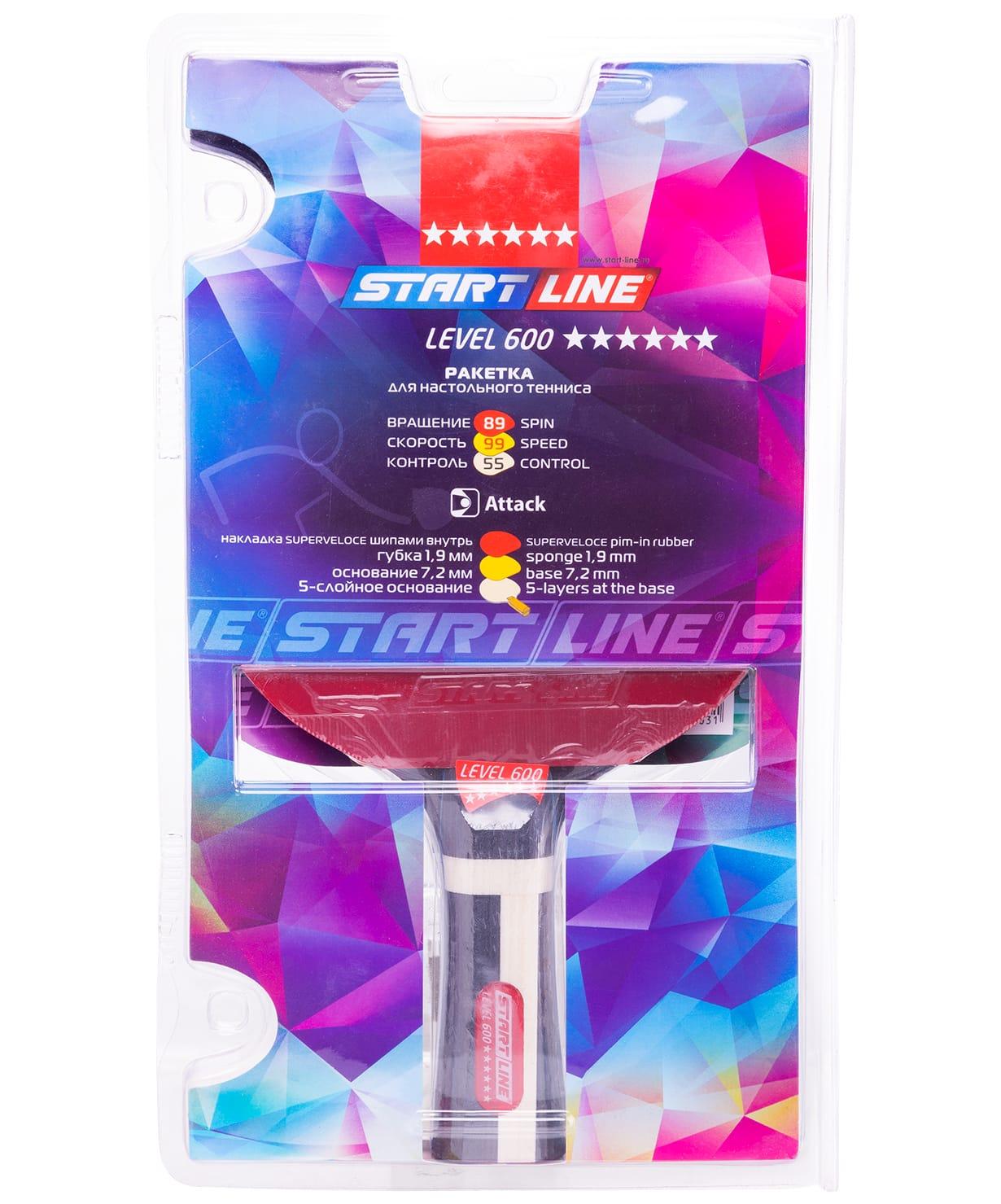 Ракетка н/т Start Line Level 600 коническая (12704)