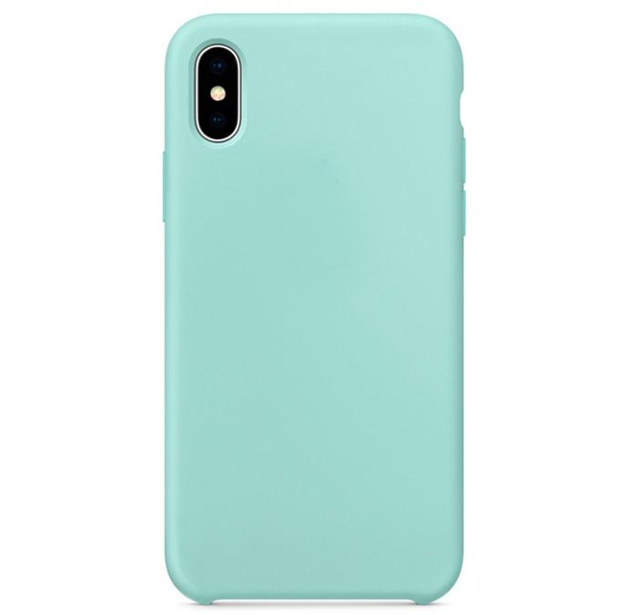 Чехол силиконовый Silicone Case для iPhone XS Max, бирюзовый