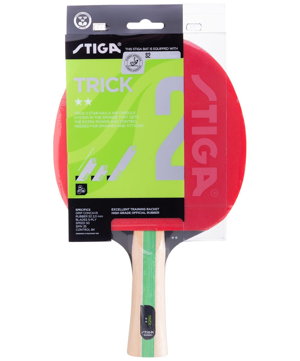 Ракетка для настольного тенниса Stiga 2 Stars Trick ACS stiga ракетка н т 2 stiga carbotech wrb ittf
