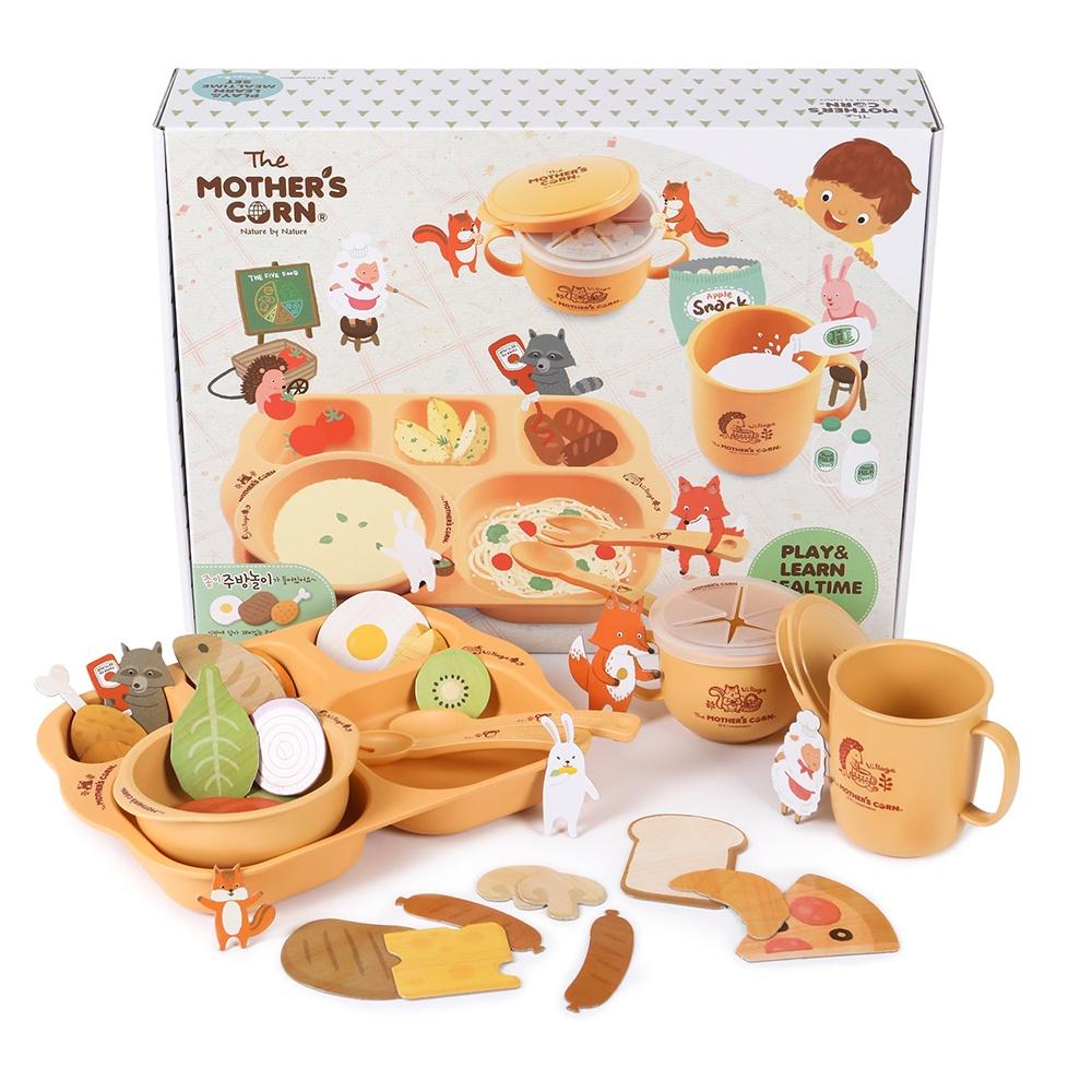 Mothers Corn набор посуды обучающий Едим и играем