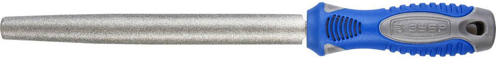 Напильник Зубр Эксперт P 120 с алмазным напылением, 33392-200-120, 200 мм напильник зубр эксперт полукруглый p 120 200мм 33392 200 120