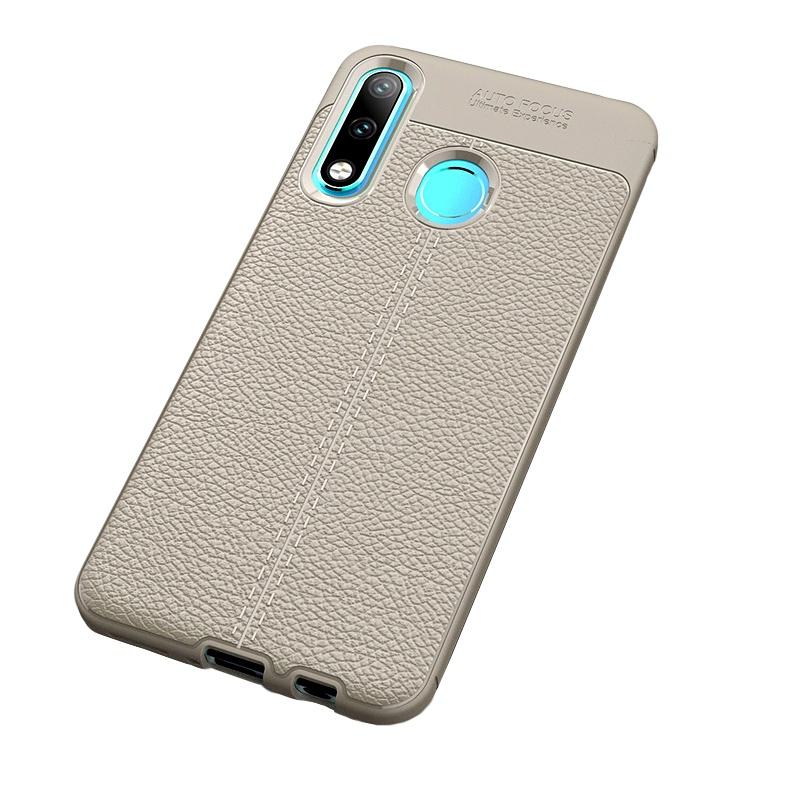 Чехол MyPads для Samsung Galaxy A8 2018 из силикона с дизайном под кожу серый