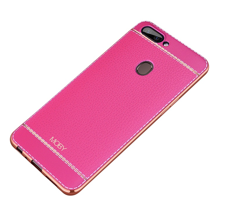 Чехол MyPads для Samsung Galaxy J5 2016 из силикона с дизайном под кожу розовый