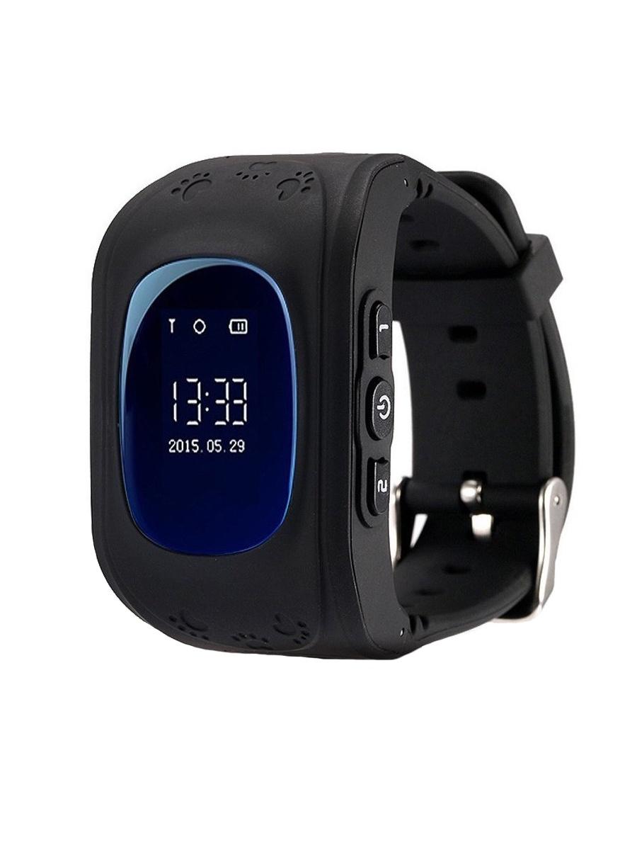 лучшая цена Детские умные часы телефон кнопочные (с gps и wi-fi)+ Приложение в подарок, Wokka Watch Q50, черный