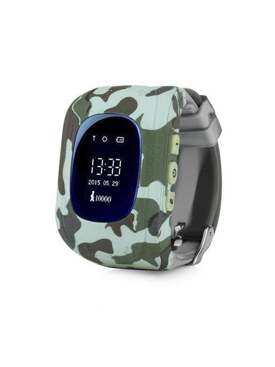Умные часы для детей + Приложение родителя (с gps и wi-fi, смарт часы-телефон) Wokka Watch Q50, зелено-голубой