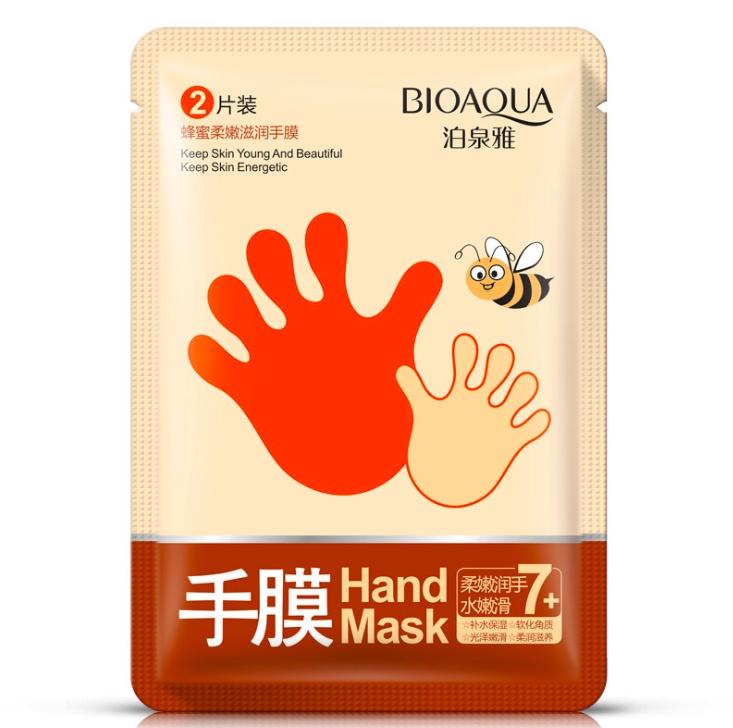 Увлажняющие маски-перчатки для рук с медом Bioaqua увлажняющие маски