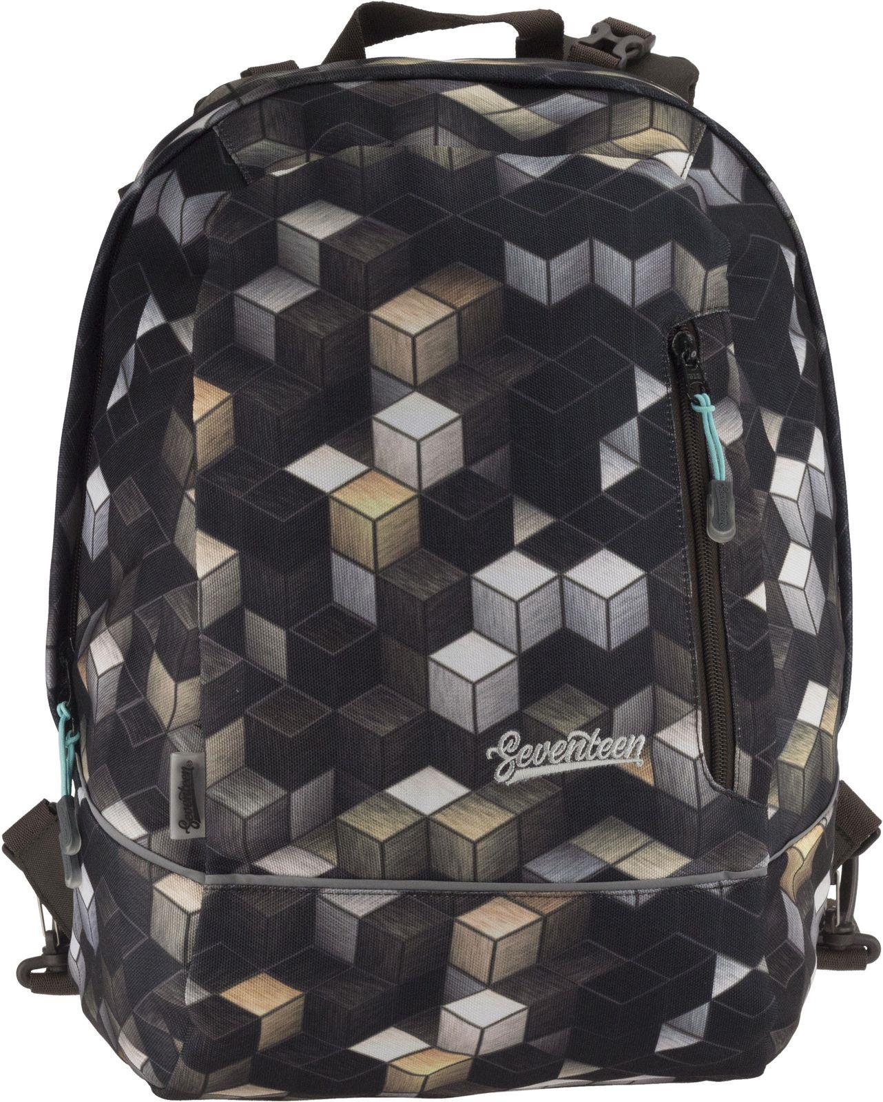 Рюкзак детский Seventeen Кубики, SVGB-RTF-675TW, мультиколоркоричневый, 43 x 32 x 19 см