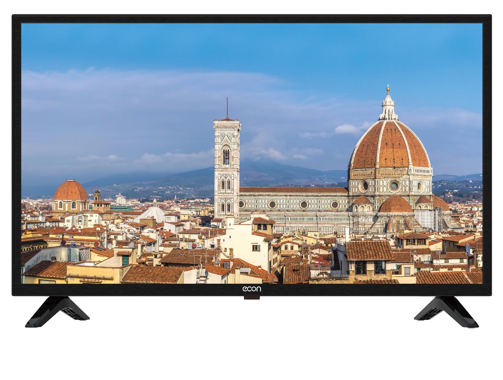 """Телевизор ECON LED SMART TV, 24""""(60 см), с встроенным цифровым тюнером DVB-T2, с модулем WI-FI 24"""", черный"""