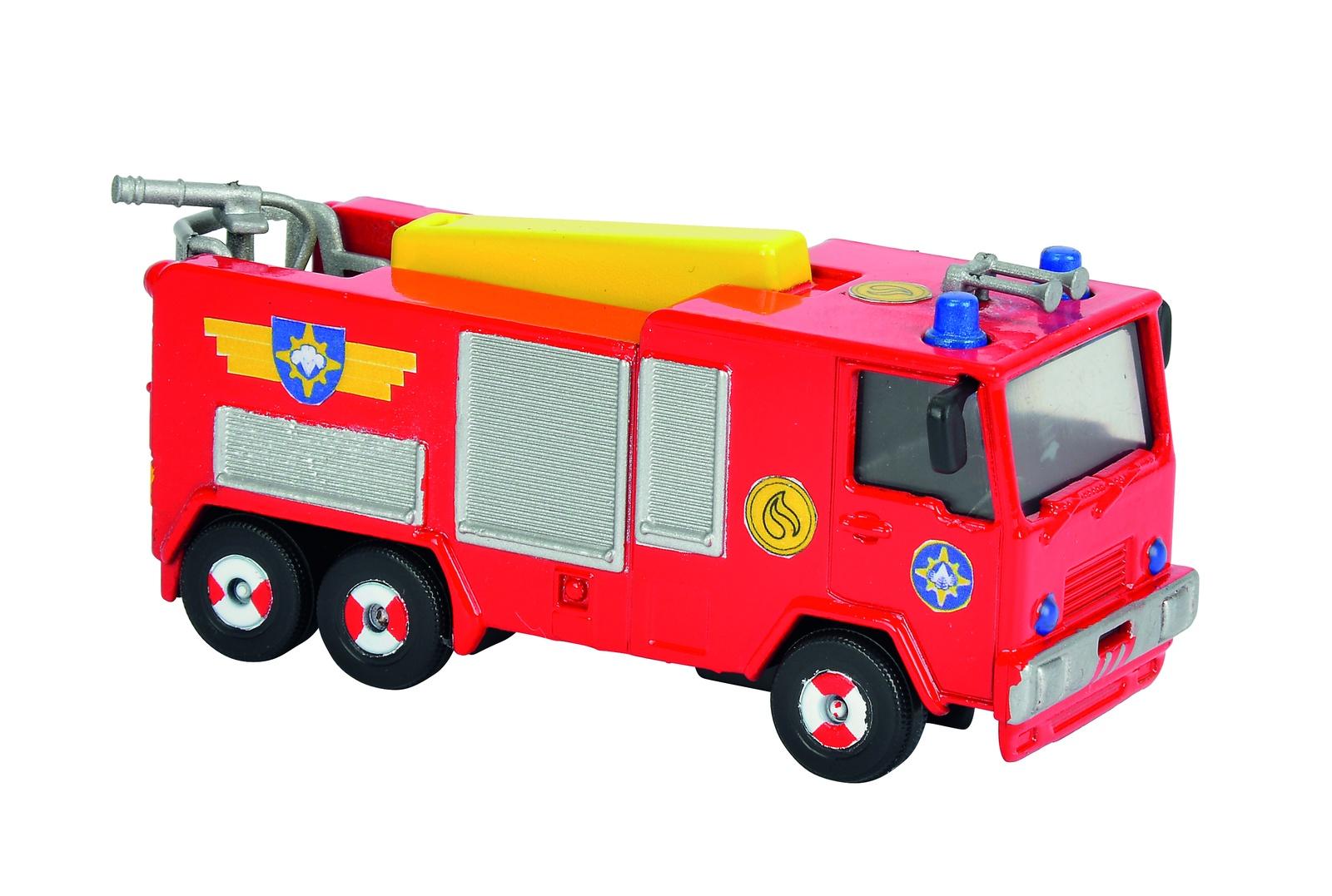 Пожарный Сэм, Игрушка транспортная на блистере Юпитер, 1:64, 24/96 машинка 3шт пожарный сэм dickie