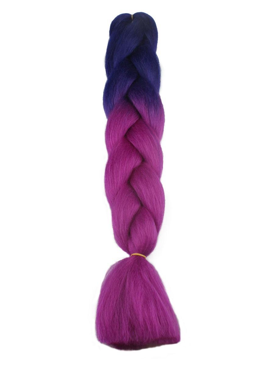 Канекалон двуцветный DV02, 60см, L. A. G. , цвет фиолетов/темно-фиолетовый L.A.G.