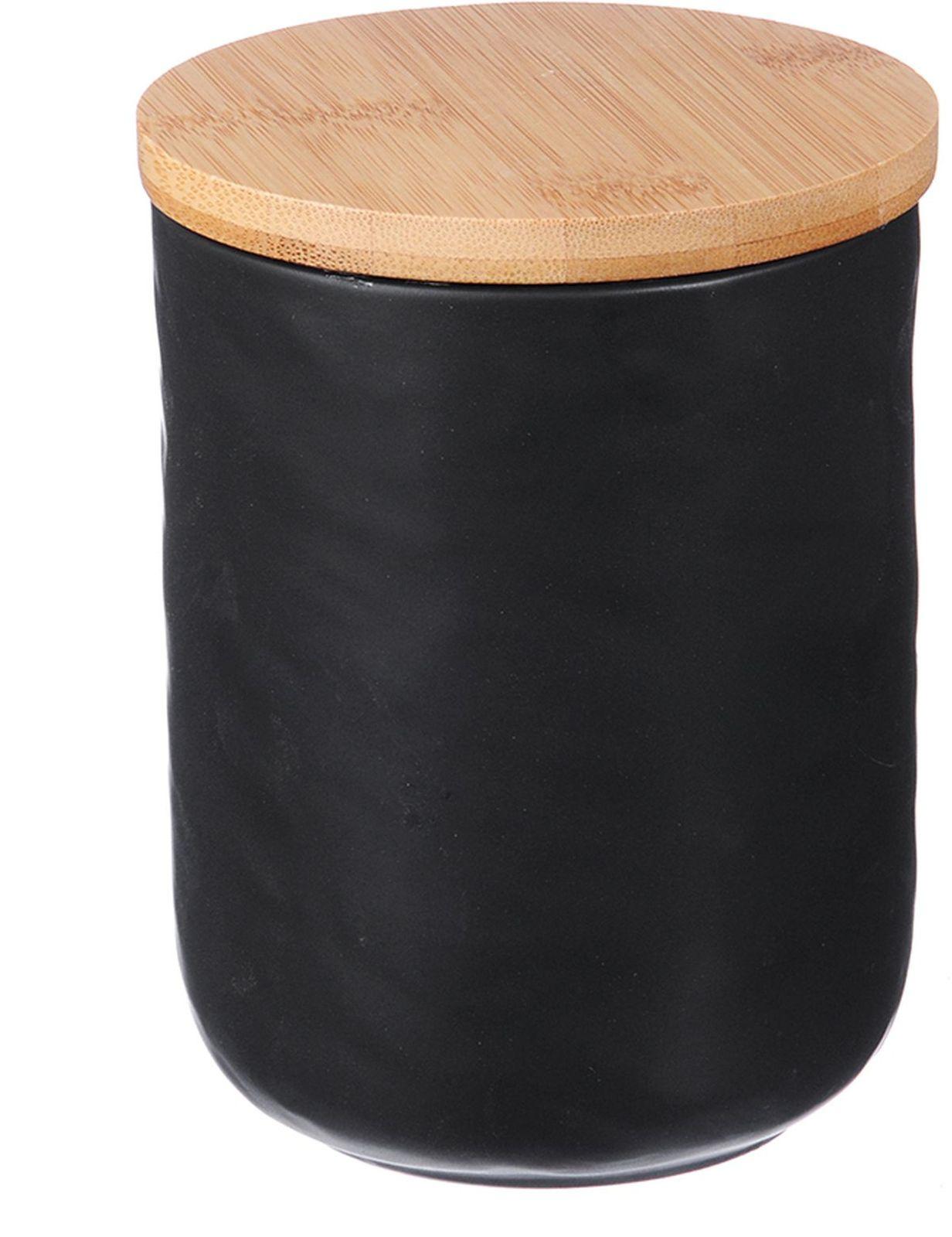 Банка для сыпучих продуктов Millimi Черный бархат, 10,5 х 13,5 см