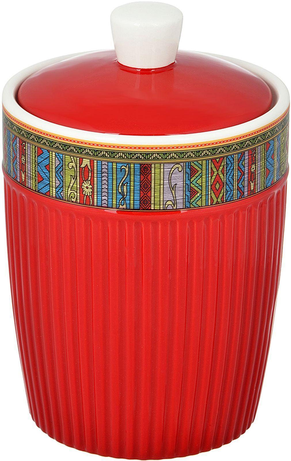 Банка для сыпучих продуктов Millimi Этника, 660 мл банка для сыпучих продуктов феникс презент кремлевский чай 750 мл
