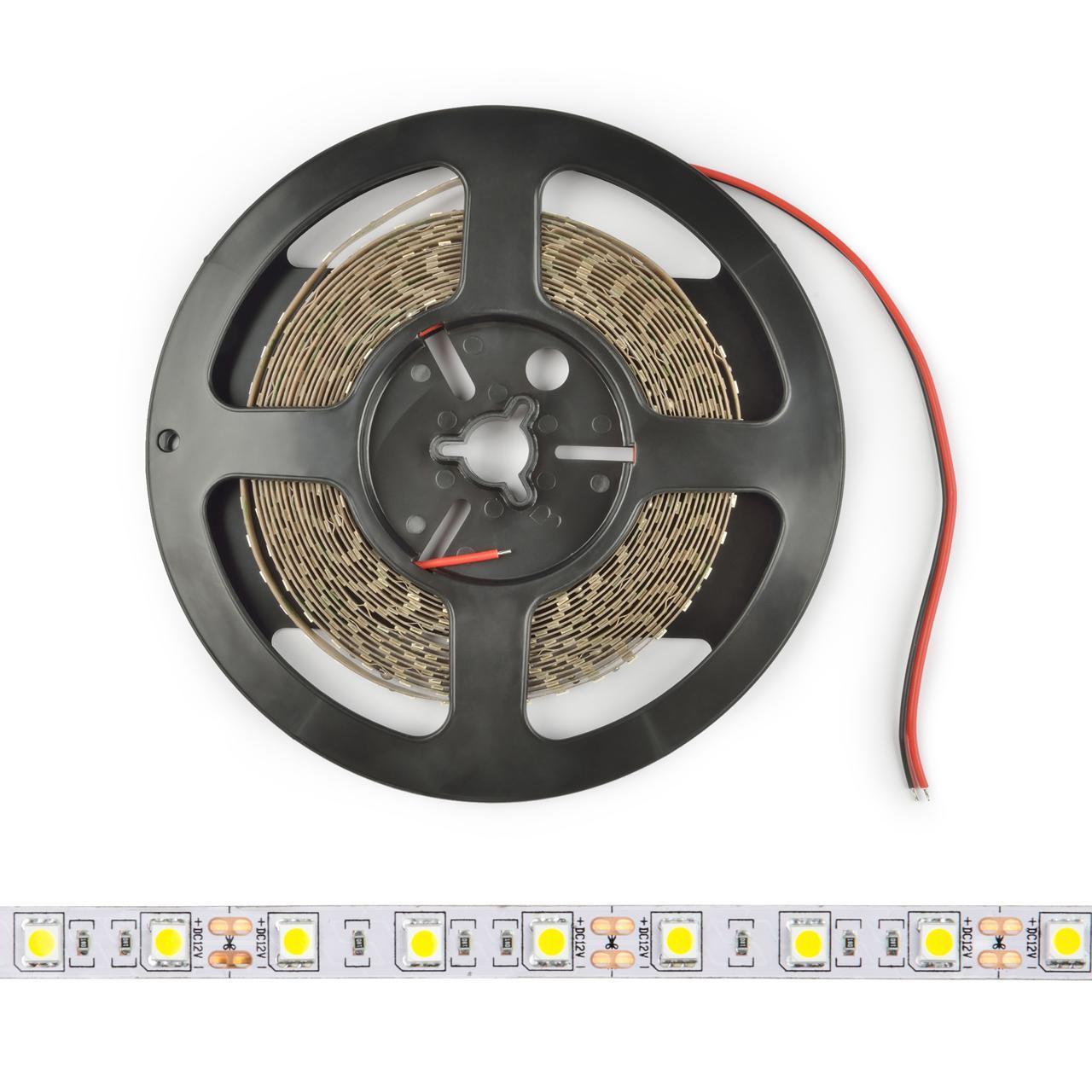 Светодиодная лента Uniel ULS-M25-5050-60LED/m-10mm-IP20-DC12V-14,4W/m-5M-6500K PROFI