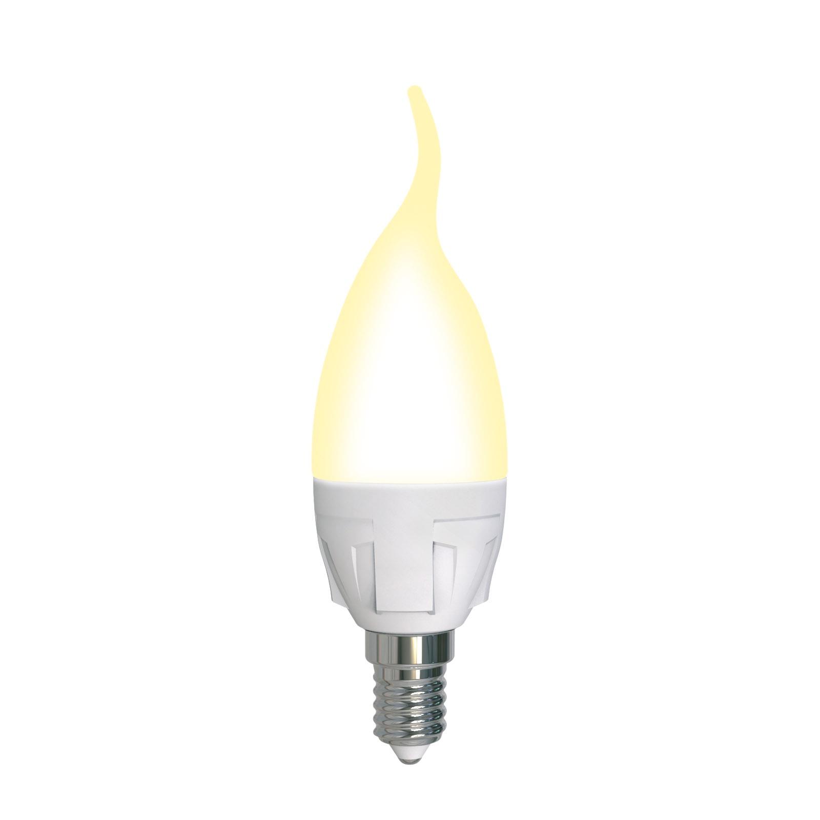 Лампочка Uniel LED-CW37 7W/3000K/E14/FR/DIM, Теплый свет 7 Вт, Светодиодная