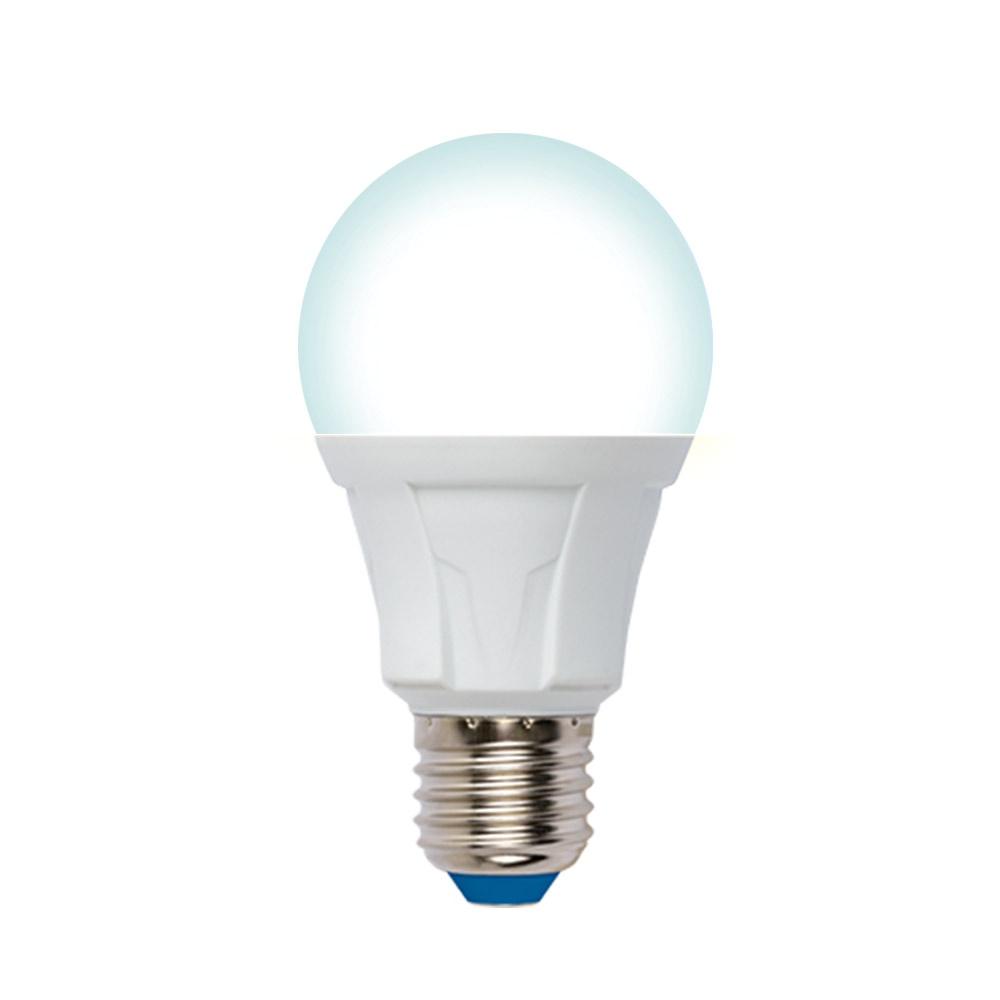 Лампочка Uniel LED-A60 10W/4000K/E27/FR/DIM 4000K, Нейтральный свет 10 Вт, Светодиодная