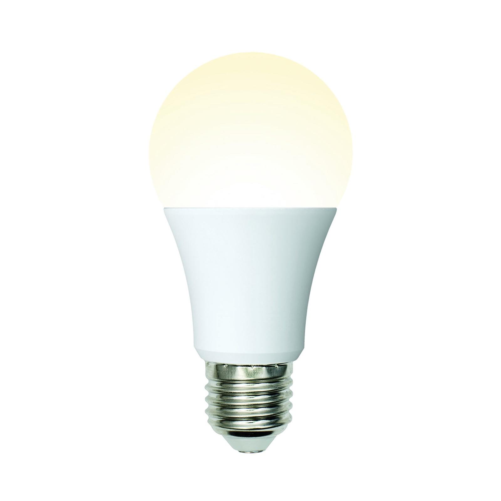 Лампочка Uniel LED-A60-10W/WW/E27/FR/MB 3000K, Теплый свет 10 Вт, Светодиодная