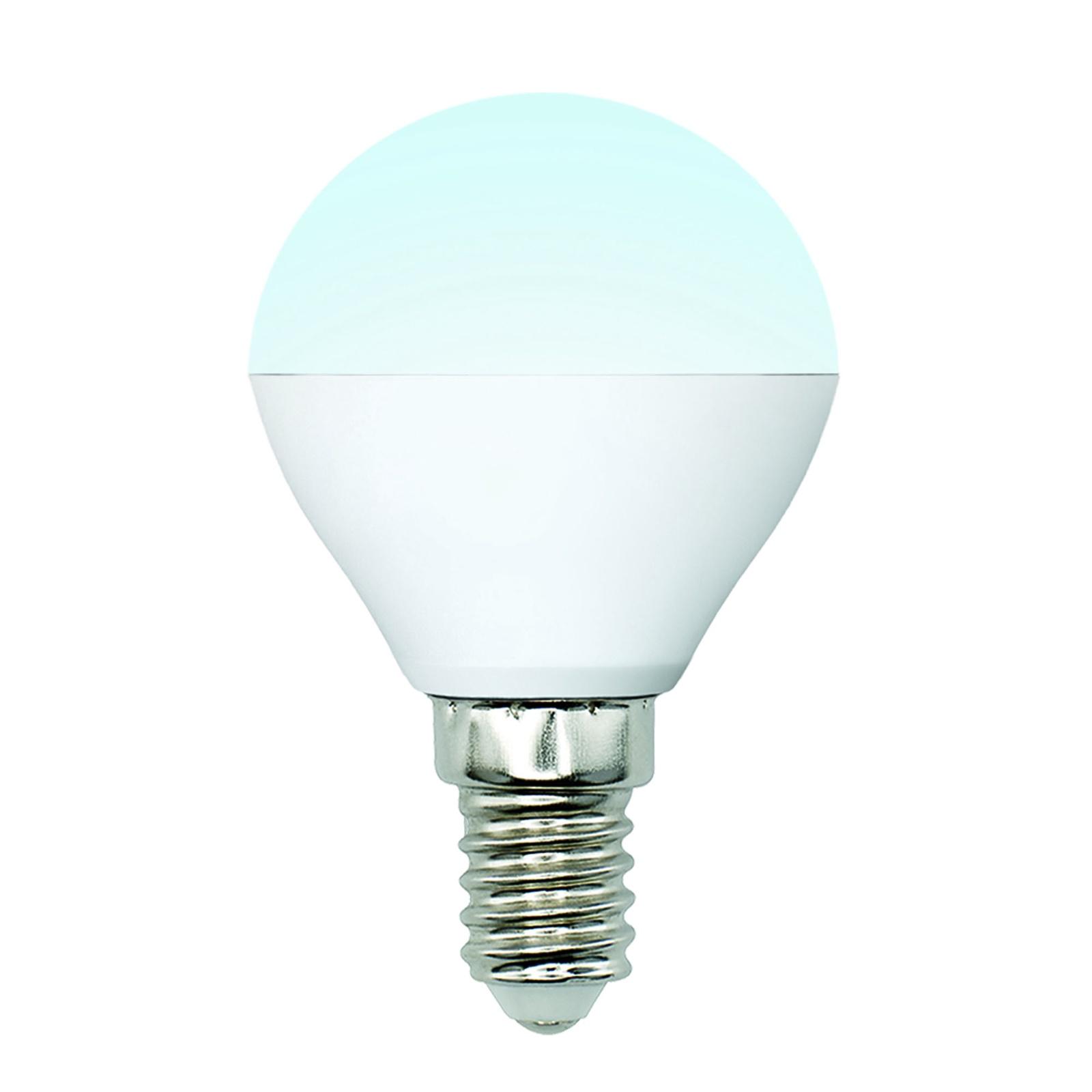 Лампочка Uniel LED-G45-6W/NW/E14/FR/MB 4000K, Нейтральный свет 6 Вт, Светодиодная