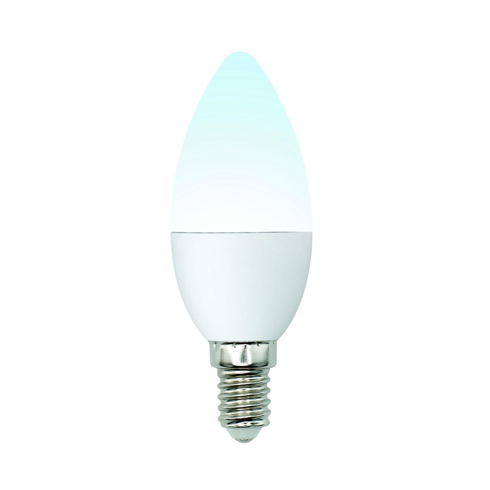 Лампочка Uniel LED-C37-6W/NW/E14/FR/MB 4000K, Нейтральный свет 6 Вт, Светодиодная