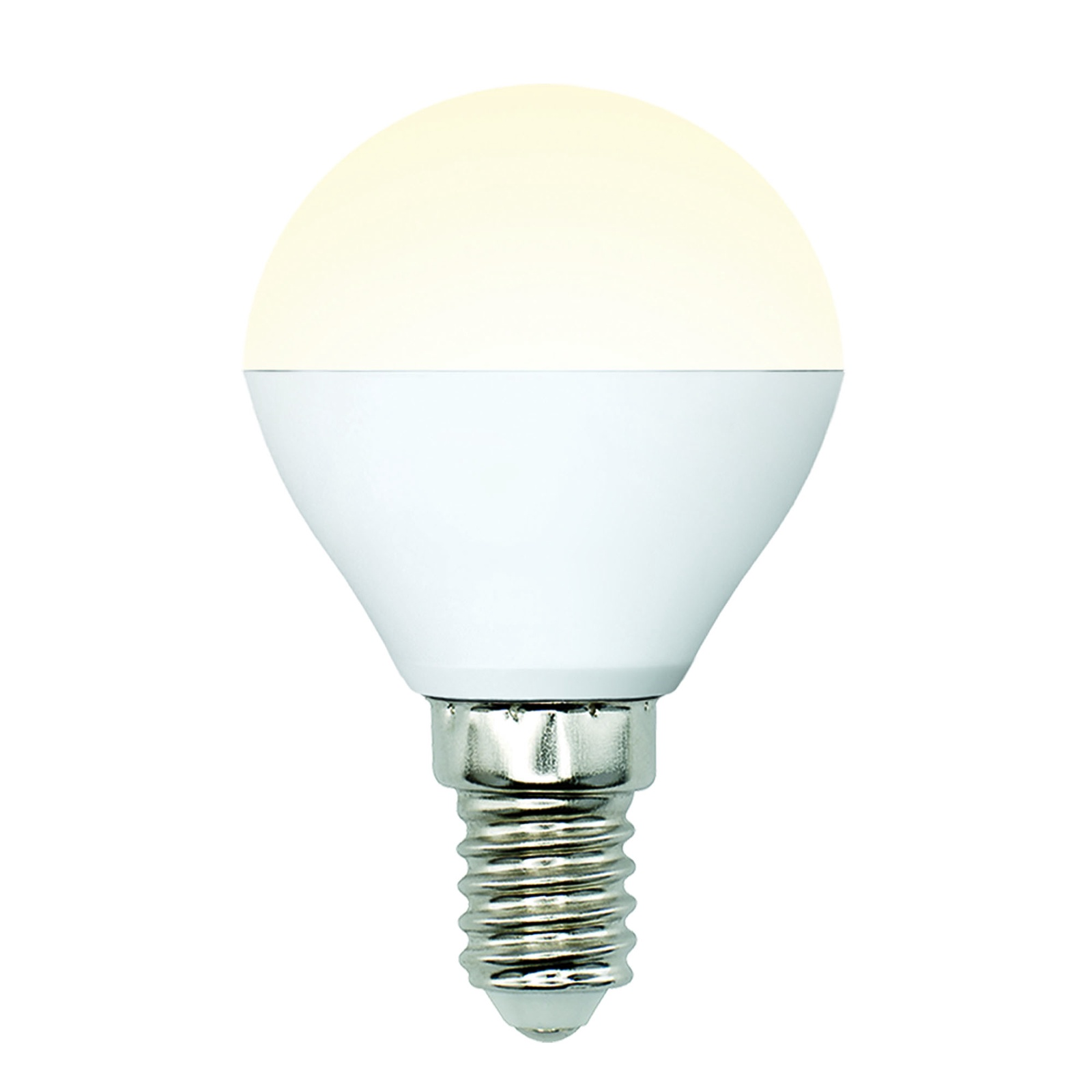Лампочка Uniel LED-G45-6W/WW/E14/FR/MB 3000K, Теплый свет 6 Вт, Светодиодная