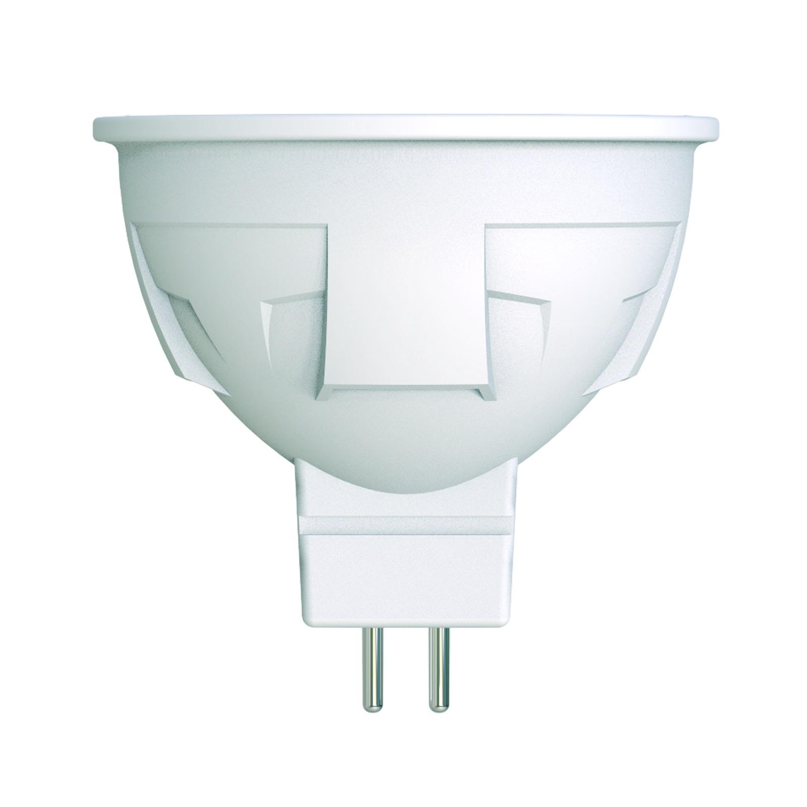 Лампочка Uniel LED-JCDR 6W/NW/GU5.3/FR/DIM 4000K, Нейтральный свет 6 Вт, Светодиодная