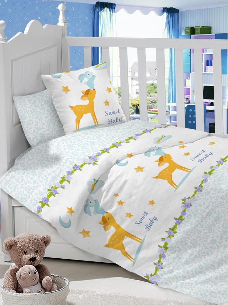"""Комплект в кроватку LIMETIME """"Олененок на голубом"""""""