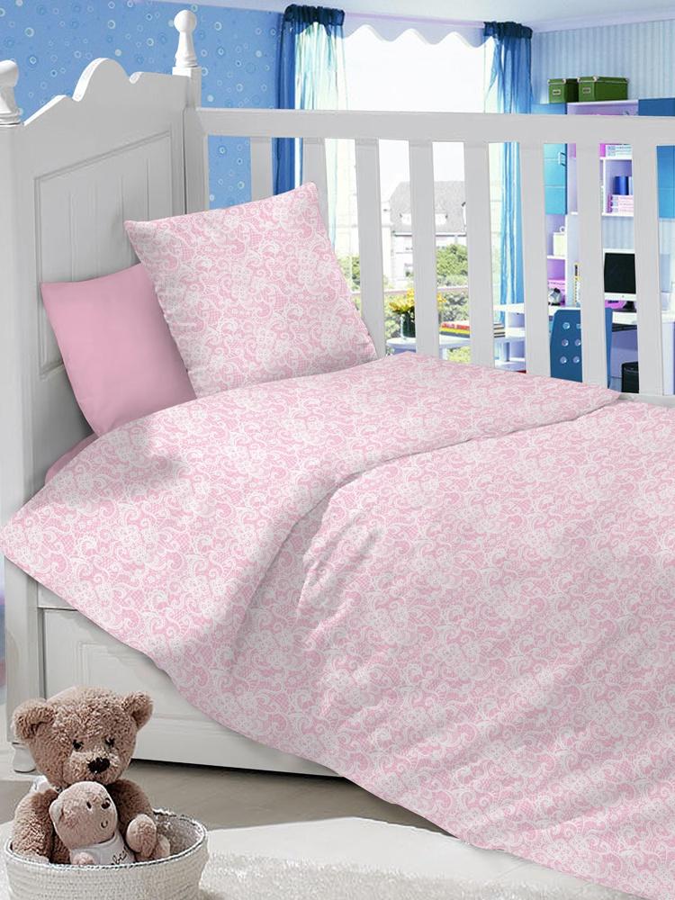 """Комплект в кроватку LIMETIME """"Ажур розовый"""""""