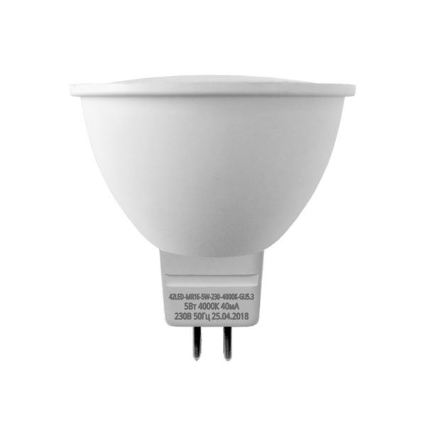 Лампочка Sweko 42LED-MR16-5W-230-3000K-GU5,3 (10шт), Теплый свет 5 Вт, Светодиодная