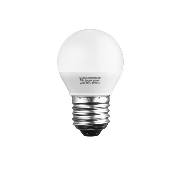 Лампочка Sweko 42LED-G45-7W-230-4000K-E27, 10 штук, Холодный свет 7 Вт, Светодиодная