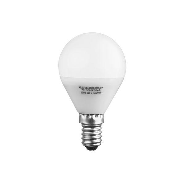 Лампочка Sweko 42LED-G45-7W-230-4000K-E14, 10 штук, Холодный свет 7 Вт, Светодиодная