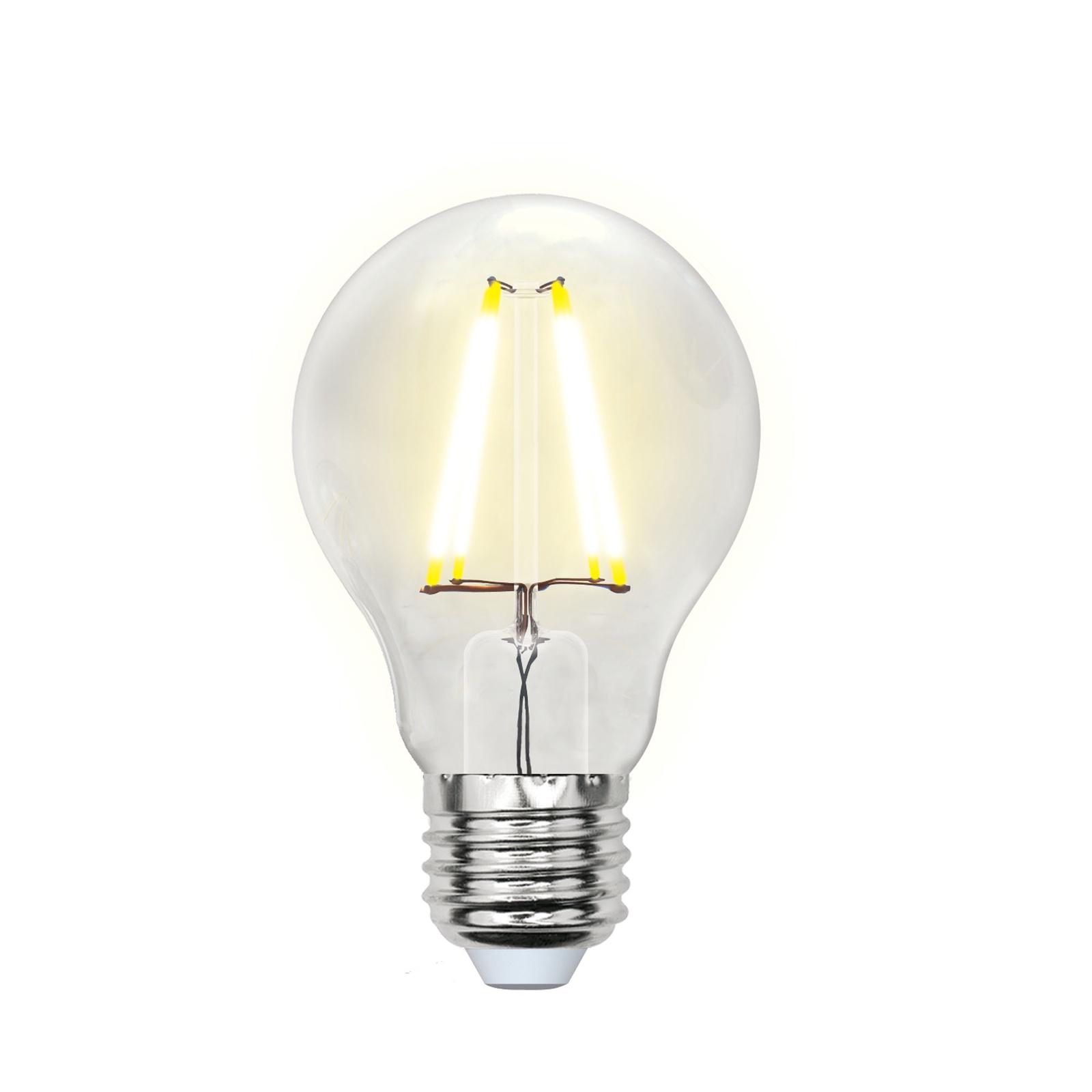 Лампочка Uniel LED-A60-8W/WW/E27/CL 3000K, Теплый свет 8 Вт, Светодиодная