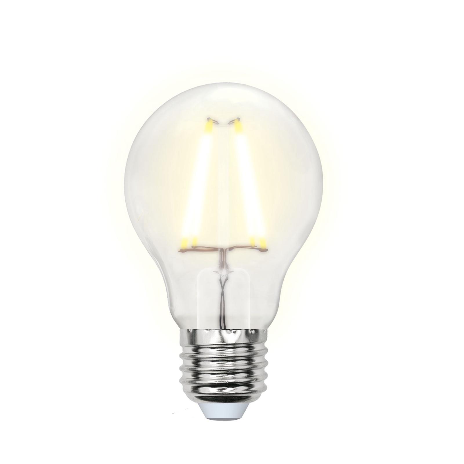 Лампочка Uniel LED-A60-8W/WW/E27/FR 3000K, Теплый свет 8 Вт, Светодиодная